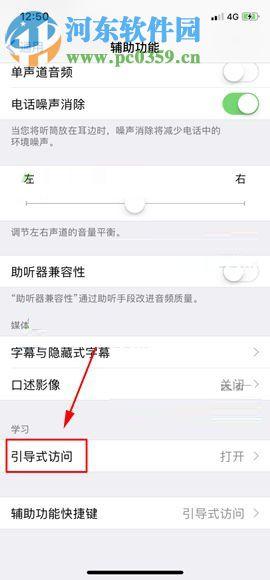 苹果iPhone X打开引导式访问功能的操作方法