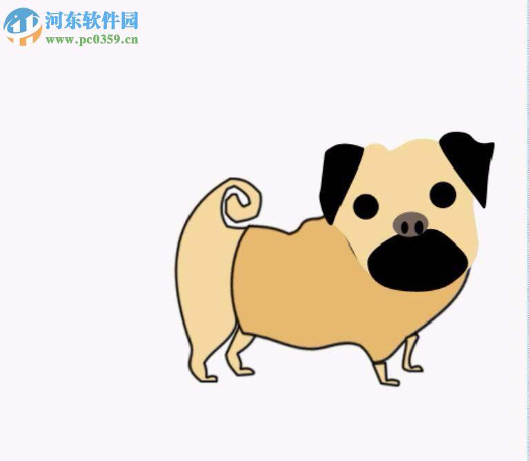 利用ps怎么画出哈巴狗图形_ps教程:画出哈巴狗图形的