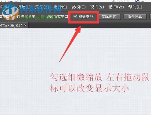 ps拖动图片不能细微缩放怎么办 修复ps细微缩放功能不能使用的方法 河东软件园