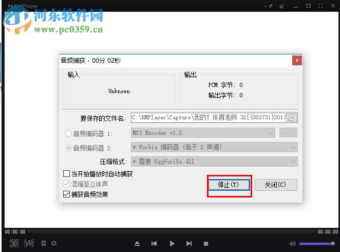 KMPlayer捕获音频的方法