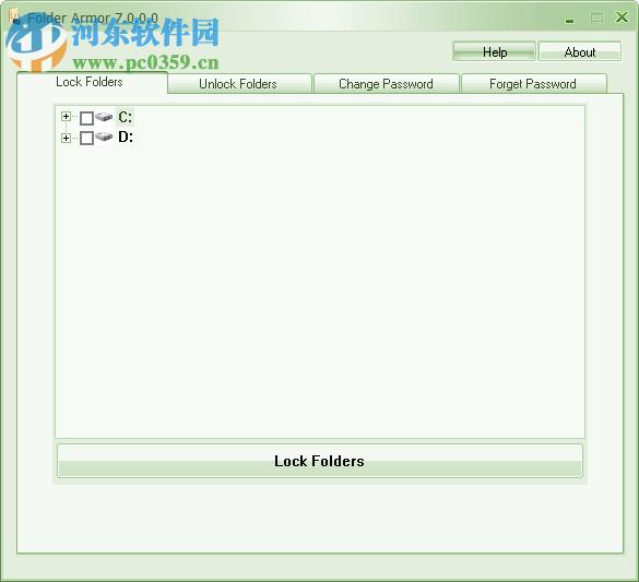 Folder Armor为文件夹加密的方法