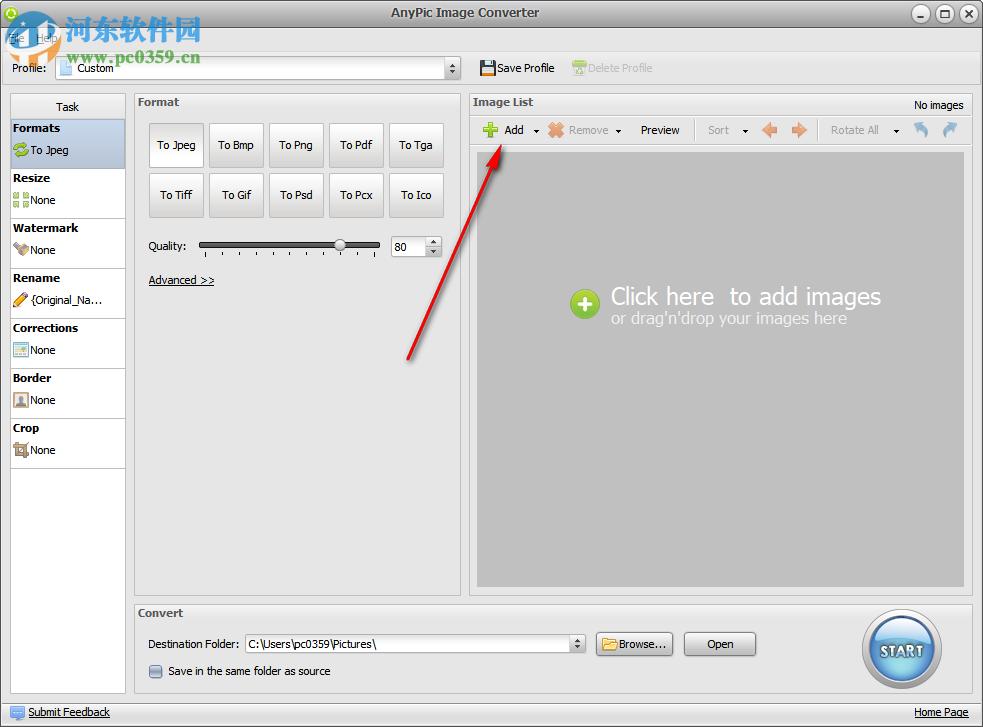 AnyPic Image Converter转换图像到psd的方法