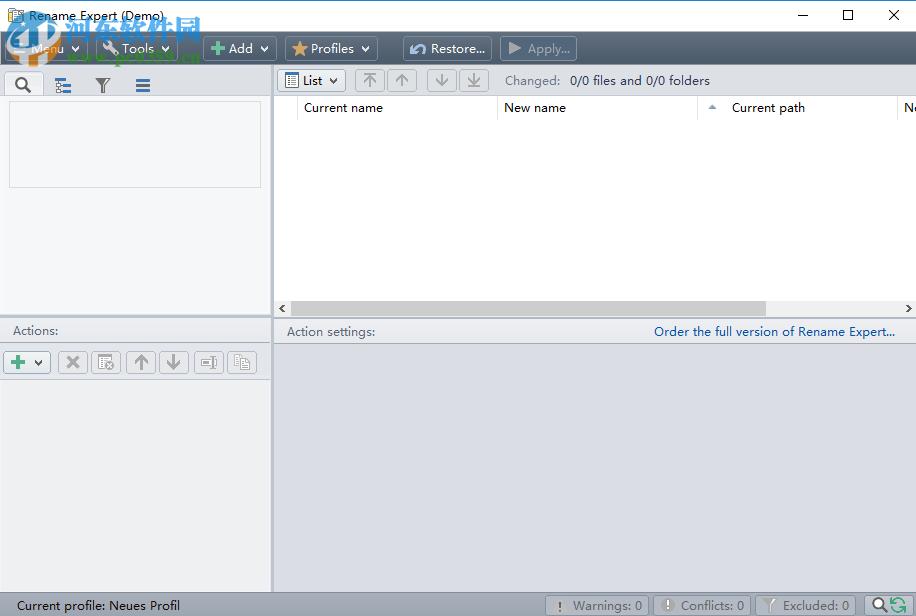 Rename Expert<a href=http://www.pc0359.cn/zt/plcmm/ target=_blank class=infotextkey>批量重命名</a>Word文档的方法