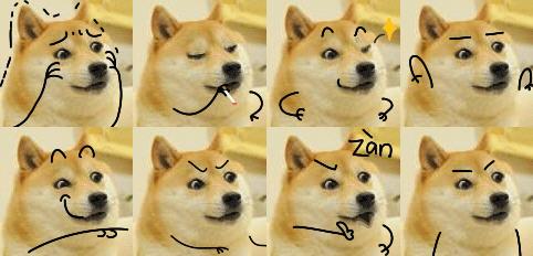 搞笑/SB狗搞笑QQ表情是一款搞笑、可爱的狗狗表情包,这个狗狗长着...