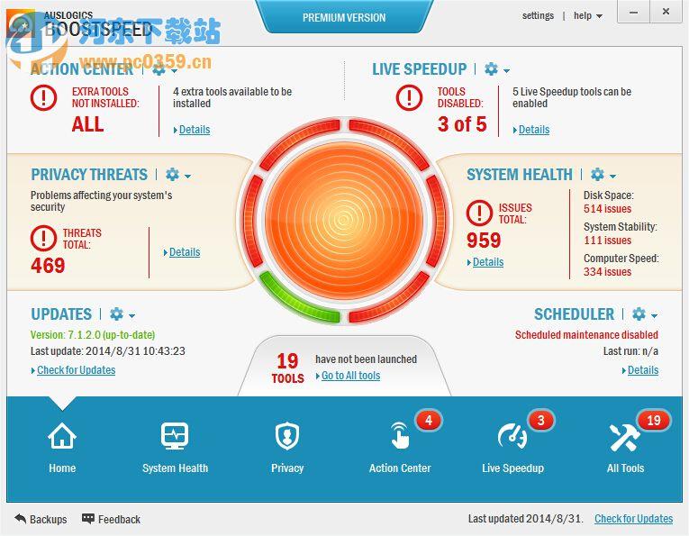 Auslogics BoostSpeed 9.1.4.0 简体中文破解版