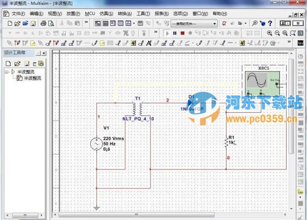 multisim电路分析一般步骤