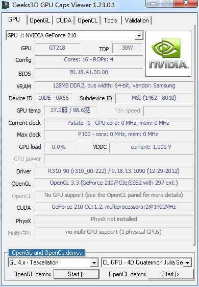GPU Caps Viewer 1.34.4.0 绿色免费版
