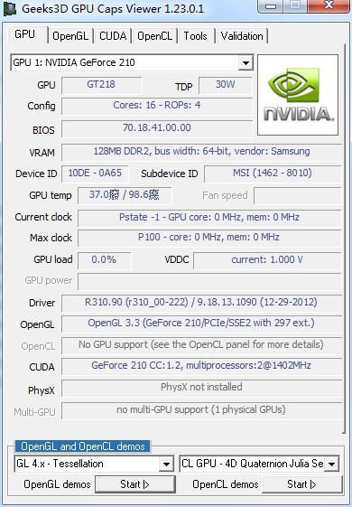 GPU Caps Viewer 1.39.0.0 绿色免费版
