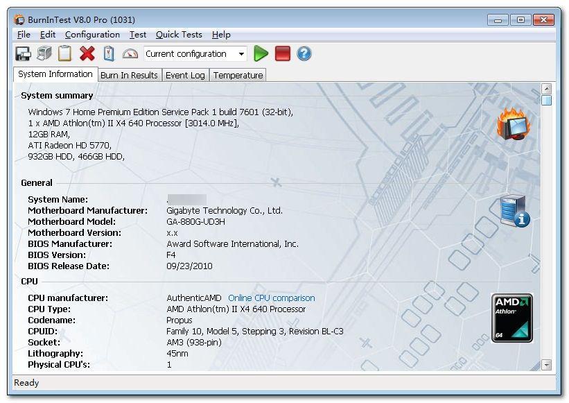 BurnInTest中文破解版|电脑稳定性测试(BurnInTest) Pro8.1.1017 破解版