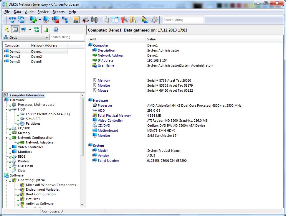 DEKSI Network Inventory(系统检测工具) 13.5 官方版
