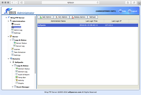 Wing FTP Server Mac版 4.8.0