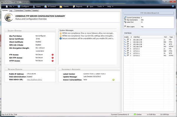Cerberus FTP Server(FTP服务器) 9.0.0.4 免费版