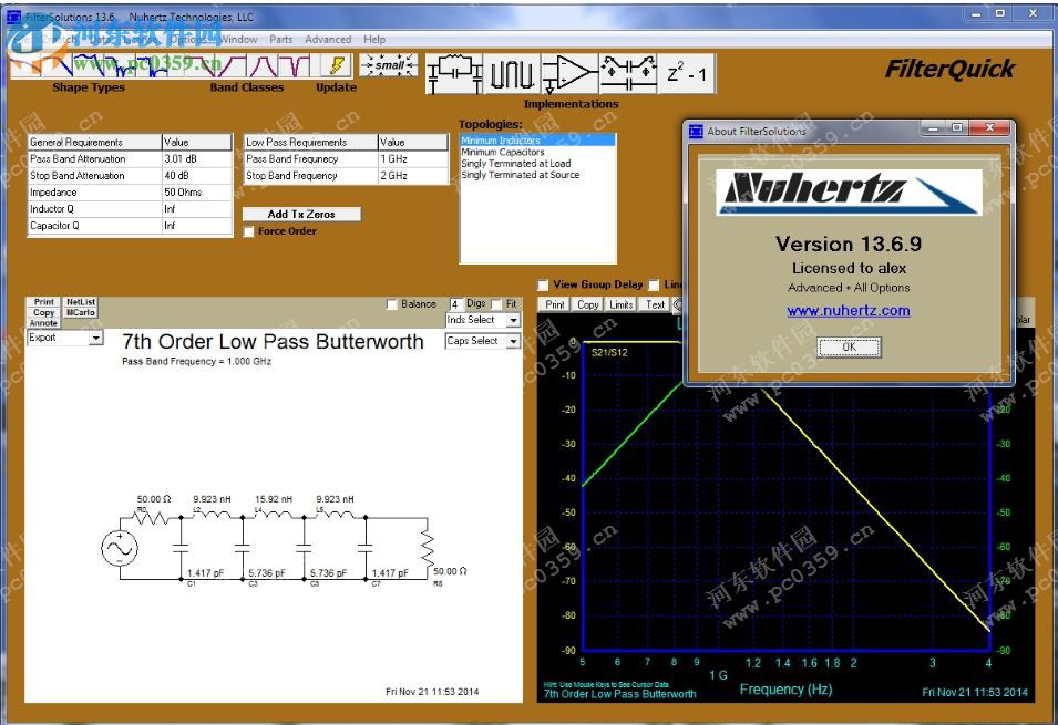Nuhertz Filter Solutions 2014下载 13.6.9 官方特别版
