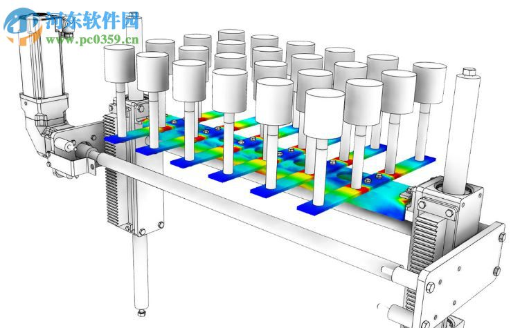 随机振动疲劳   高达70-80%的所有机械故障都是由于使用中的疲劳,由于循环负载的大小低于其设计负载。   Autodesk Nastran的疲劳性能允许您测试重复加载时零件的耐久性。疲劳对于反复经历长时间振动的旋转机械部件和飞行器结构特别重要。   随机振动疲劳或频谱疲劳评估功能可以模拟振动振动试验。这种类型的测试特别适用于随机输入的动态分析