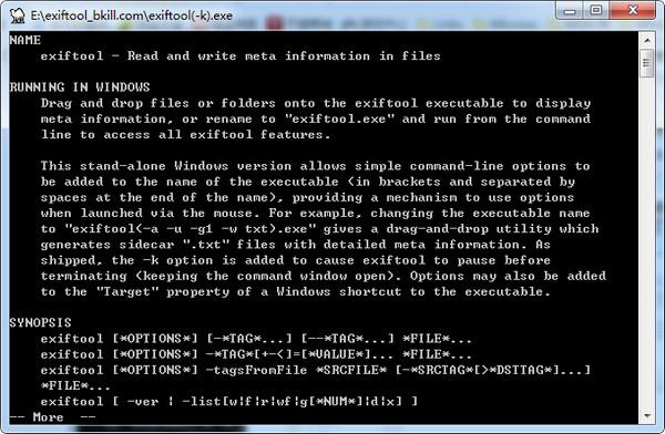 ExifTool(相片重命名工具) 11.63 绿色版