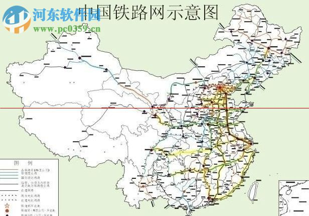 中国铁路地图下载1.0 高清电子版