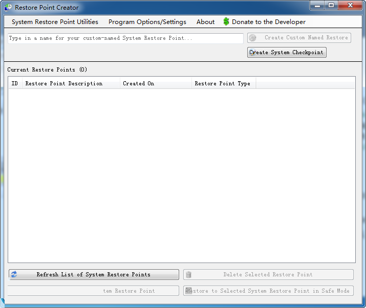 Portable Restore Point Creator(win7/8系统备份还原) 7.1 Build 2 官方正式版