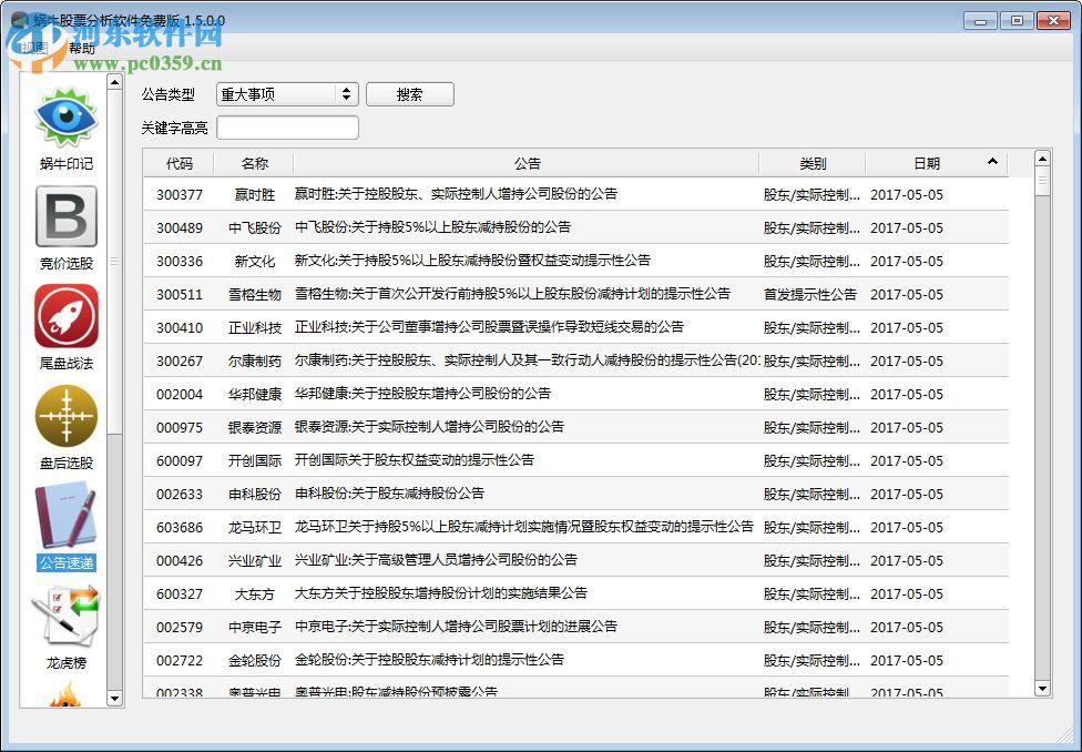 蜗牛股票分析软件下载 1.7.0.0 绿色免费版