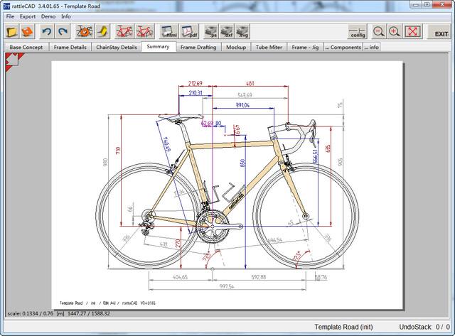 rattleCAD(自行车图形及图纸设计工具) 3.6.22 官方版
