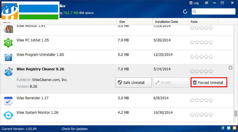 Wise Program Uninstaller(强力软件卸载工具) 2.2.1.116 官方版