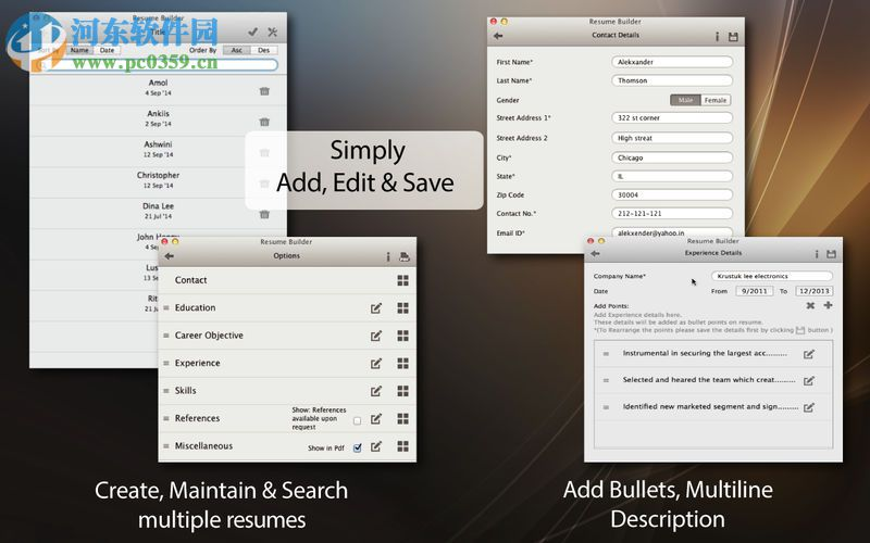 Resume Builder for Mac(简历制作软件) 1.5.0 免费版