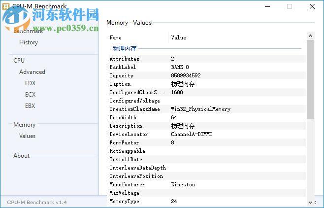 CPU-M Benchmark(CPU性能测评软件) 1.4 正式版