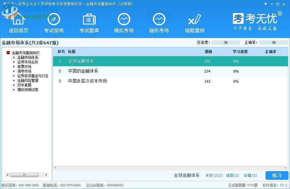 考无忧证券从业考试题库软件 17.1 官方版