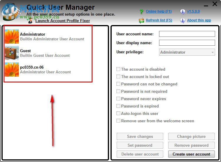 Quick User Manager(快速设置windows系统账户)