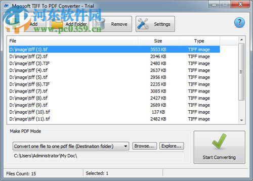 Mgosoft TIFF To PDF Converter(TIFF转PDF工具) 8.6.2 官方版