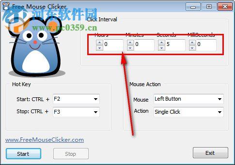 Free Mouse Clicker(鼠标重复点击软件) 1.0.0.0 官方绿色版