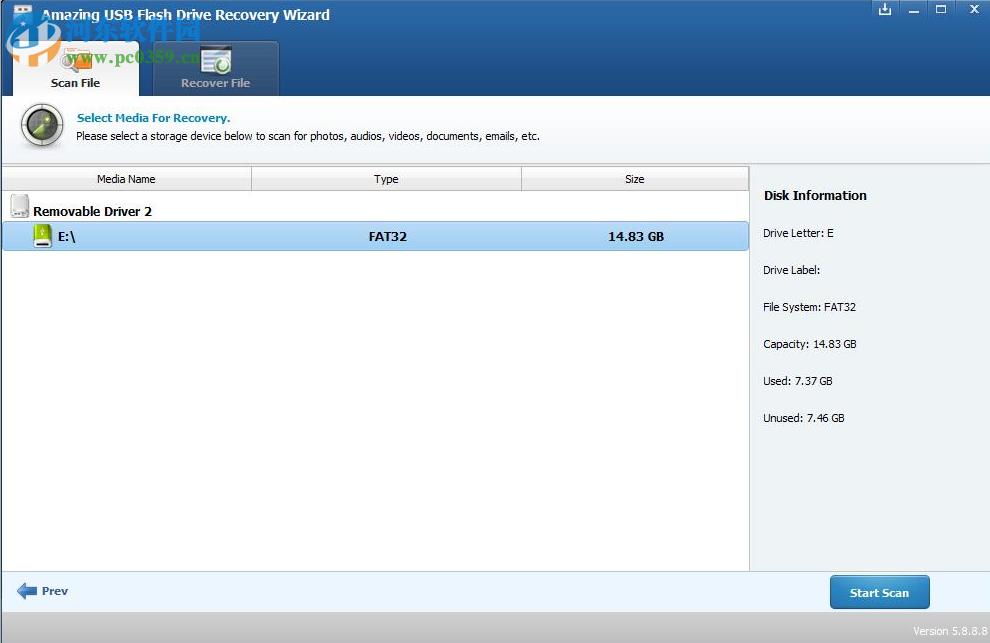 Amazing USB Flash Drive Recovery Wizard(USB闪存盘恢复) 9.1.1.8 免费版