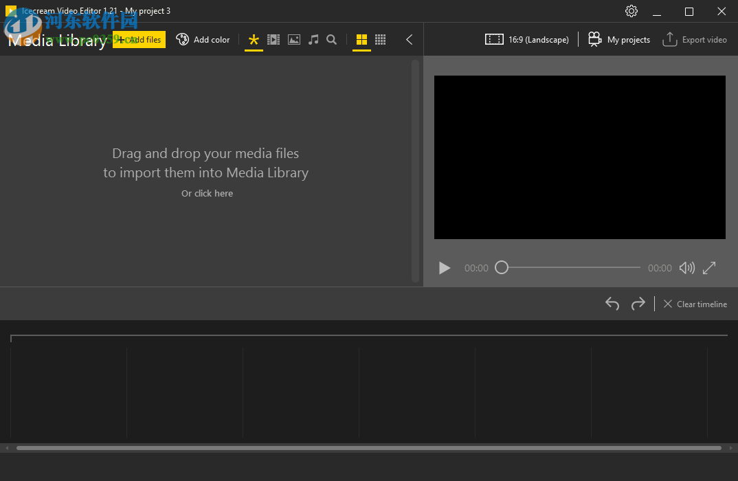 Icecream Video Editor(免费<a href=http://www.pc0359.cn/v/duanshipin/ target=_blank class=infotextkey>视频剪辑</a>软件)