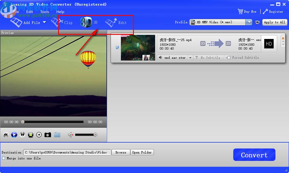 Amazing HD Video Converter(HD视频格式转换工具)