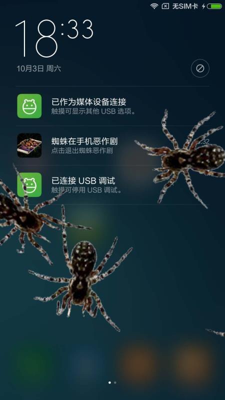 蜘蛛在手机爬行(3)