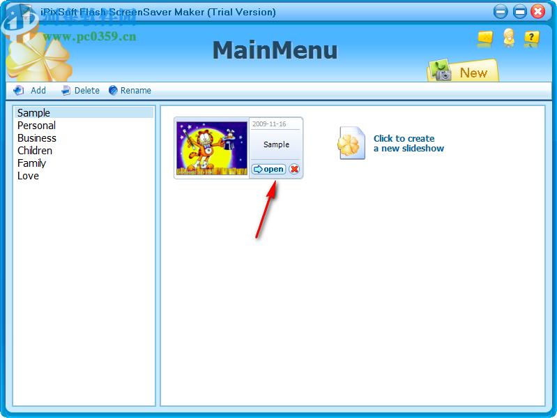 iPixSoft flash ScreenSaver Maker